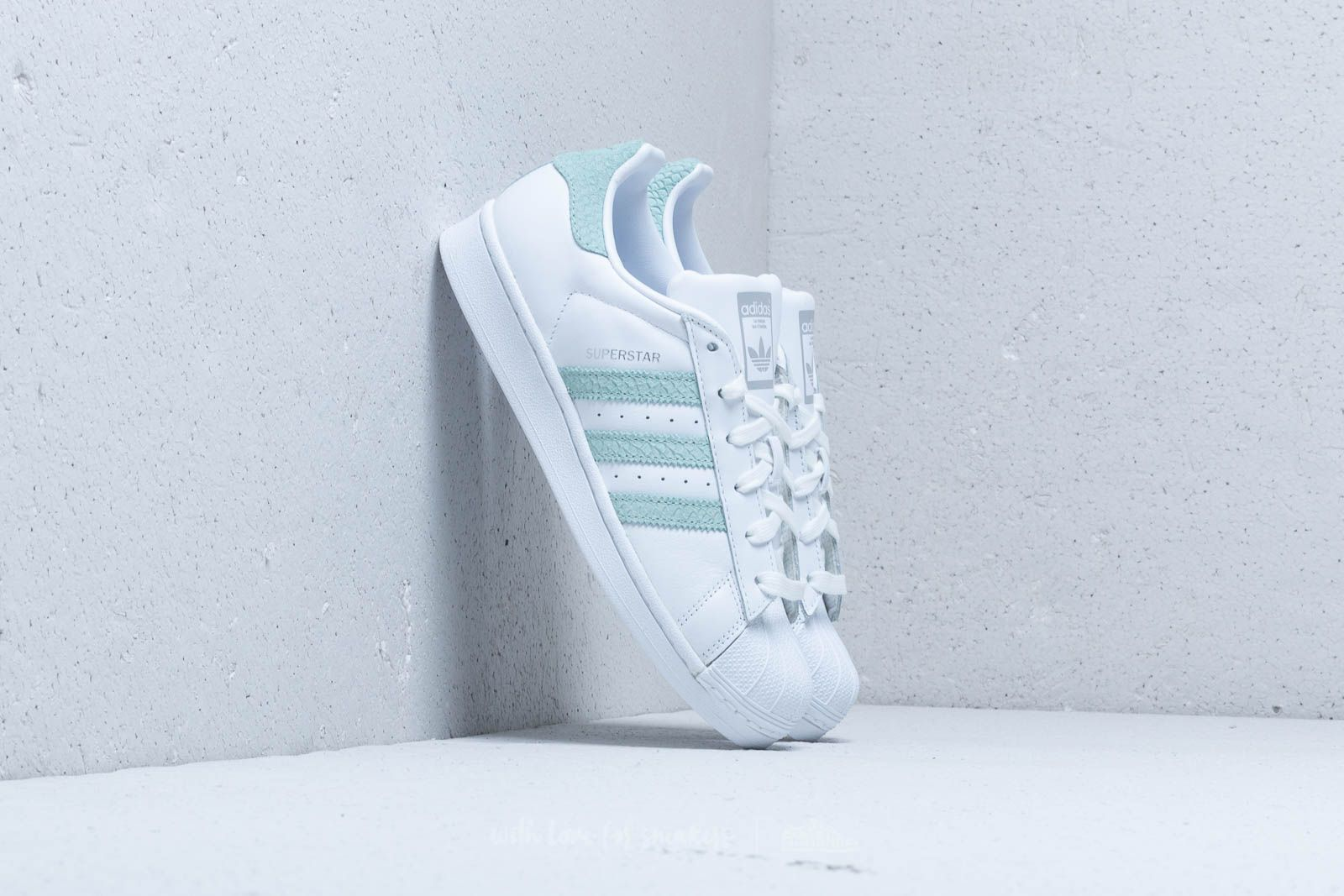 best cheap 60ff1 ec796 adidas Superstar W Ftw White  Ash Green  Silver Metallic at a great price 99