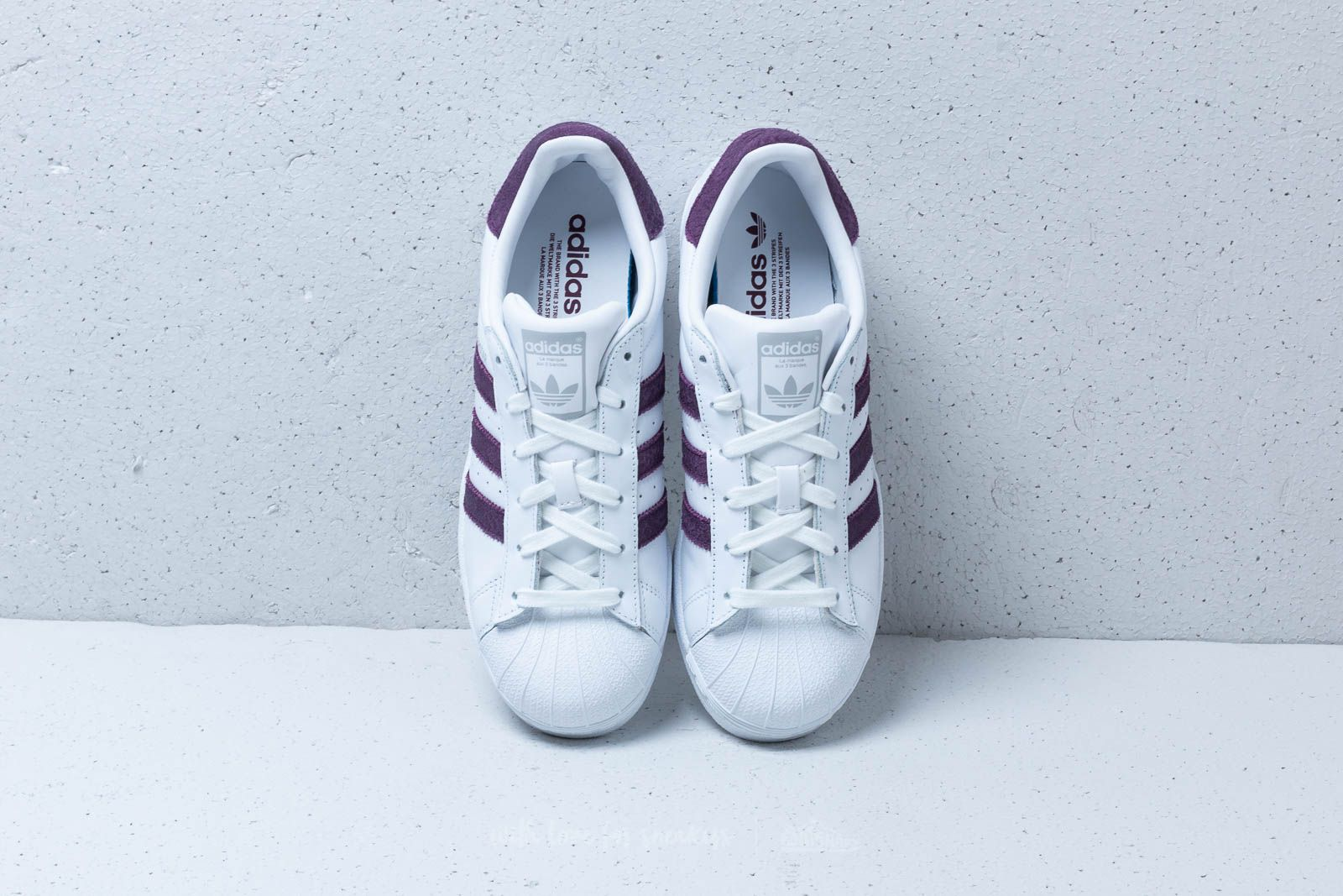 timeless design 2c7f1 c2148 adidas Superstar W Ftw White/ Red Night/ Silver Metallic ...
