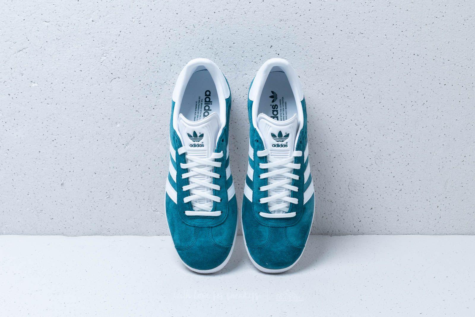 Abierto Inyección maíz  Men's shoes adidas Gazelle Petrol Night/ Ftw White/ Ftw White | Footshop