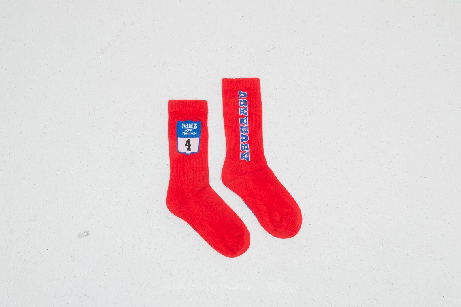 Ponožky Reebok x Pyer Moss Crew Socks Red