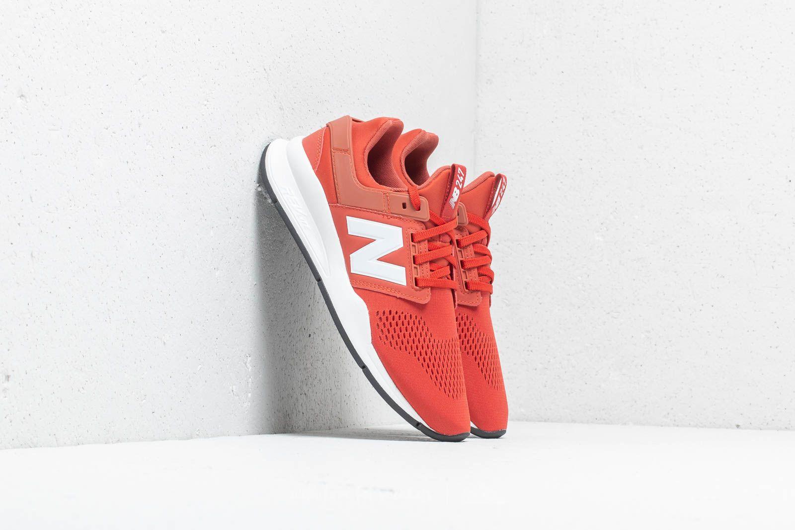 New Balance 247 Brick Red/ White