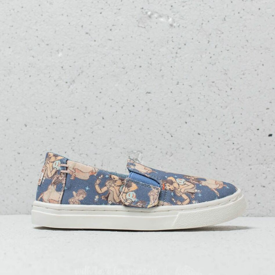 Toms x Disney Luca Tiny Blue Snow White Printed Canvas