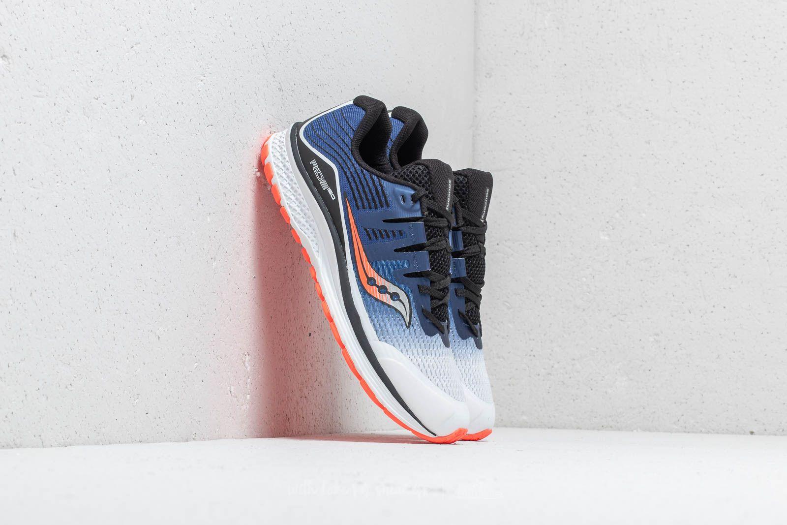 Női cipők Saucony Ride ISO White/ Blue/ Visible Red