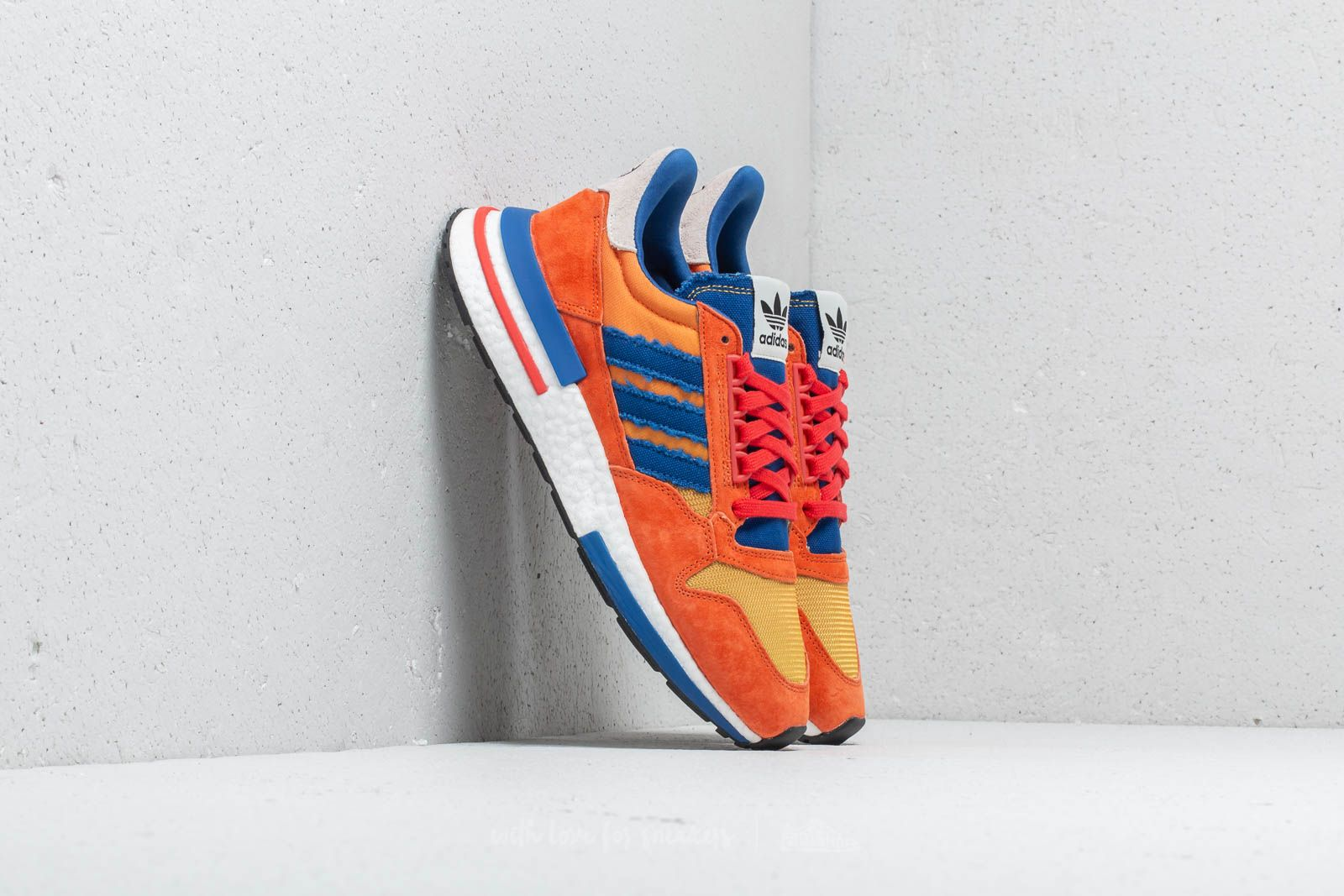 5d561dbeb1aa adidas x Dragon Ball Z ZX 500 Restomod Orange  Blue