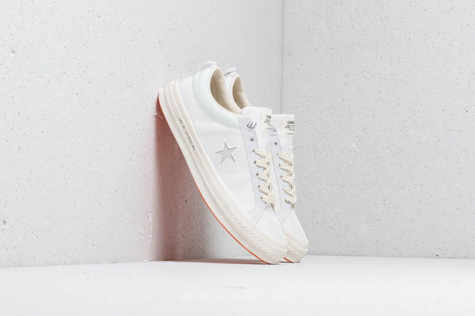 72a9432e322ebd Converse x Carhartt WIP One Star OX White  White  Vibrant Orange ...