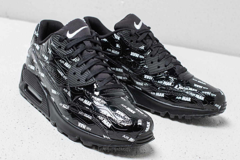 "Nike Air Max 90 Premium ""All Over Logo"" Black  Black-White at 9afbcf5190"