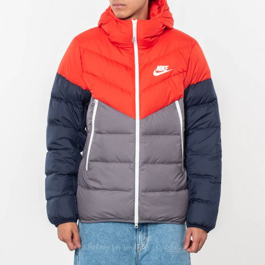 Nike Sportswear Down Filled Hooded Windrunner Red Gun