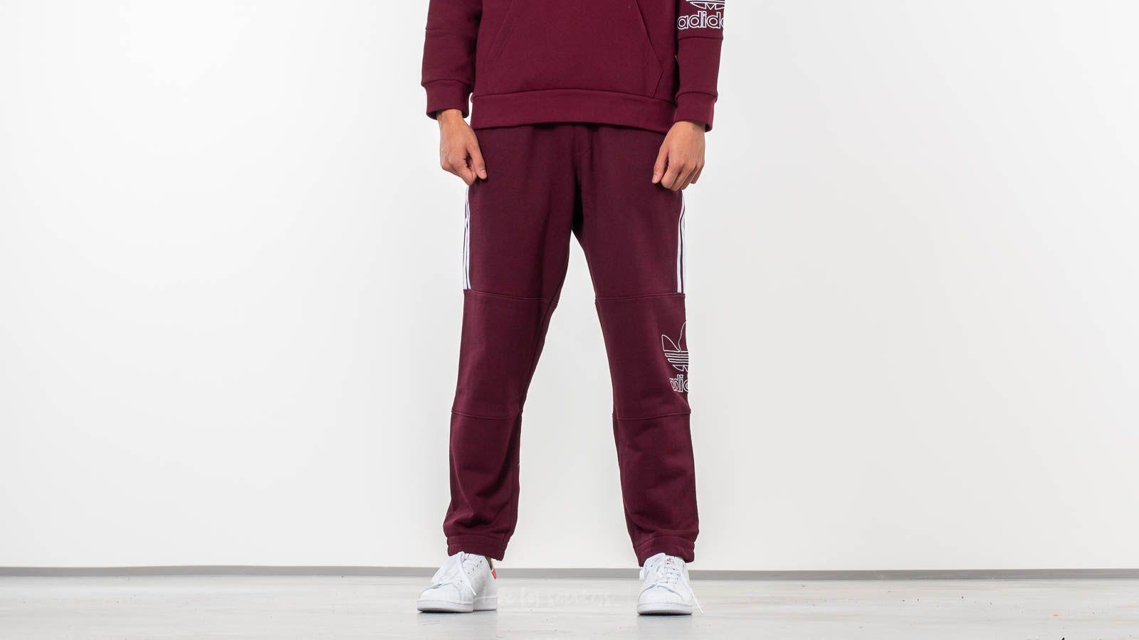 Džíny a kalhoty adidas Originals Outline Pants Maroon