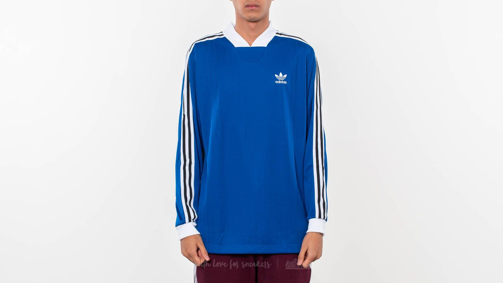 Pólók adidas Originals B-Side Long Sleeve Tee Royal Blue