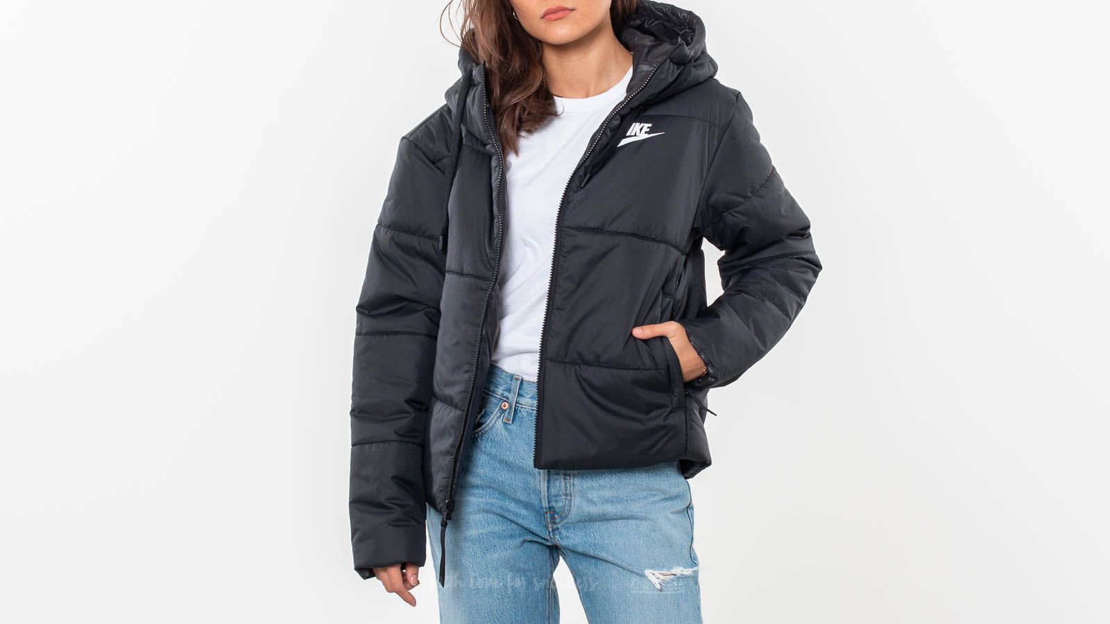 0517b1235 Nike Sportswear Synthetic Fill Reversible Jacket Black | Footshop