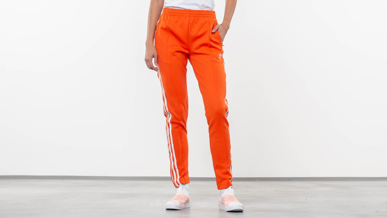 adidas Originals SST Track Pants Orange