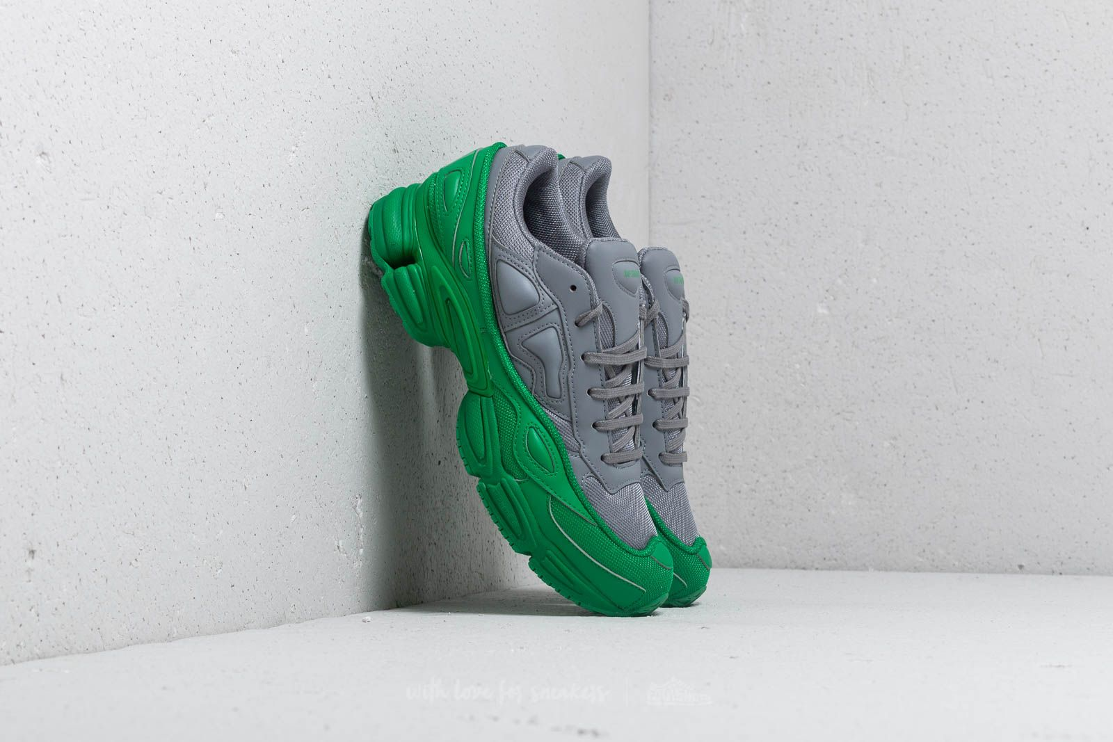 new styles bb65a a277d adidas x Raf Simons Ozweego Green Grey Grey at a great price £302