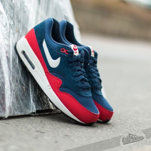 nike air max 1 essential midnight navy university red off 70