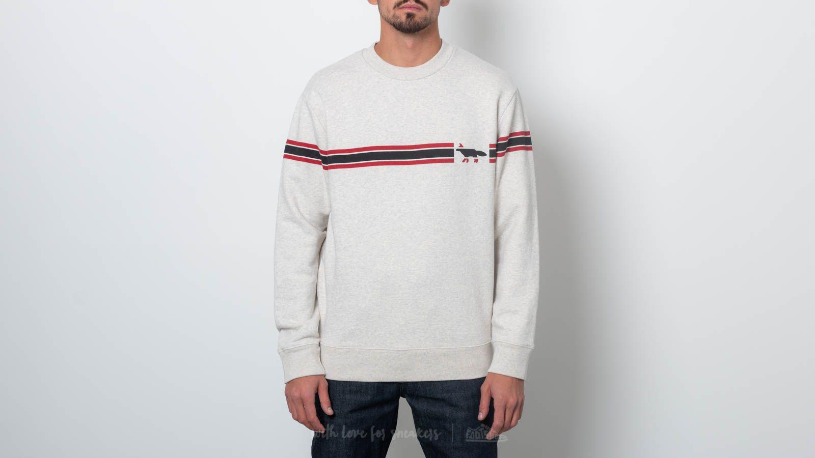 MAISON KITSUNÉ Striped Fox Sweatshirt Melange za skvělou cenu 1 970 Kč koupíte na Footshop.cz
