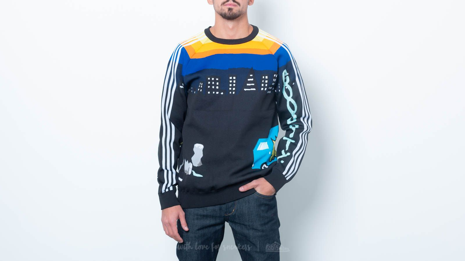 Sweatshirts adidas x United Arrows & Sons Knit Tops Crewneck Black