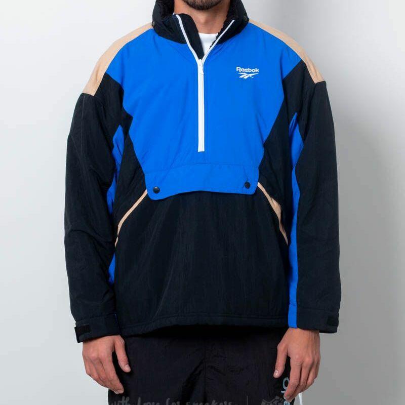 Reebok Classics Vector Unisex Anorak Jacket Black/ Blue M