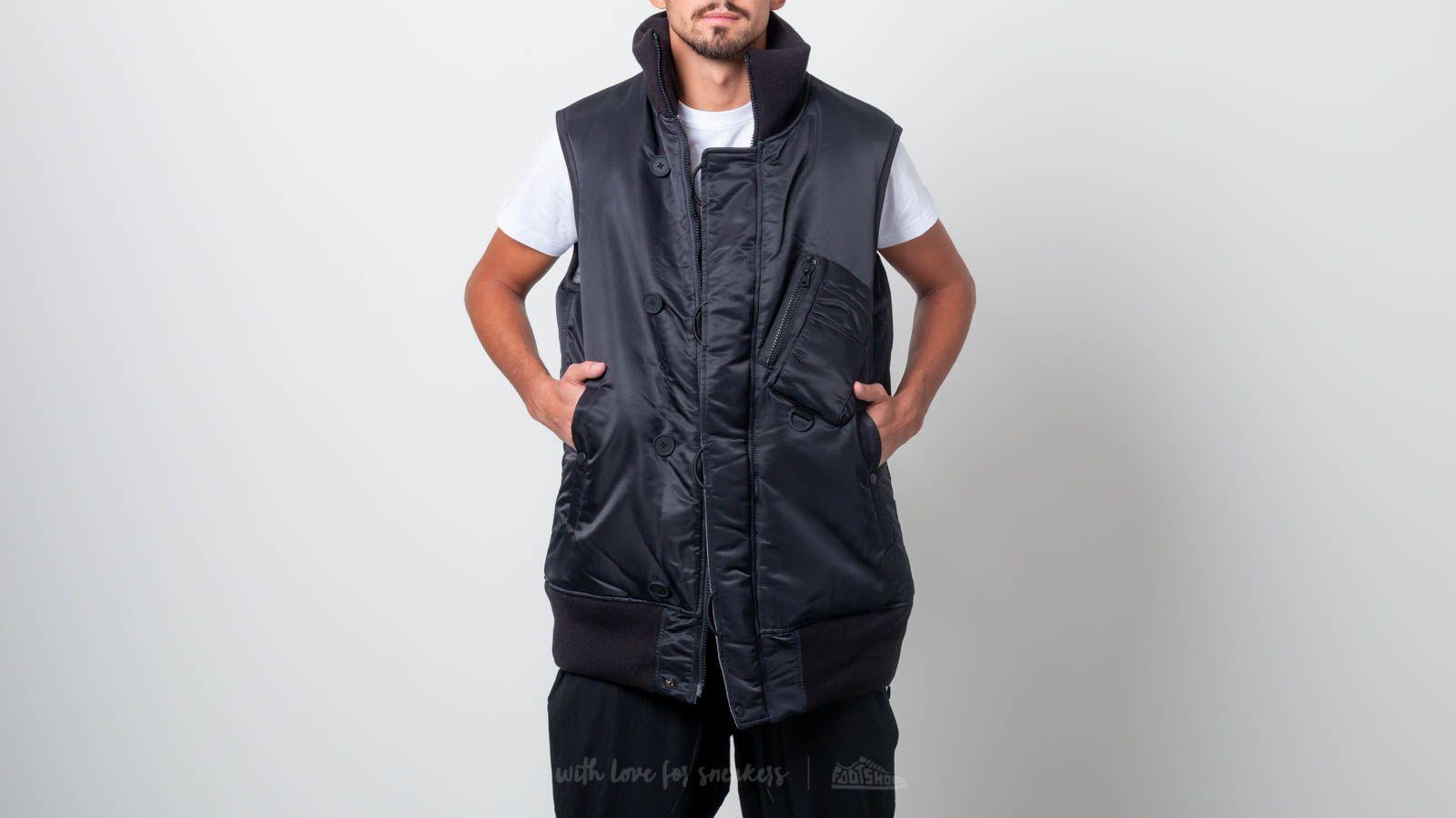 Y-3 Oversize Reversible Vest Black