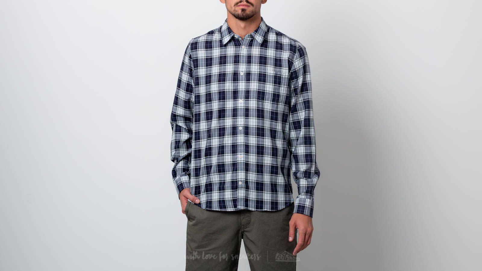 Πουκάμισα Norse Projects Osvald Soft Check Shirt Kit White