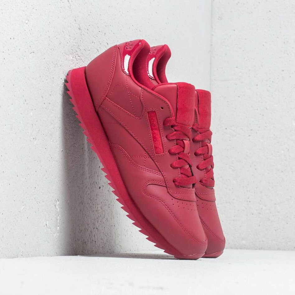 Reebok CL Leather Ripple W Cranberry Red EUR 40.5