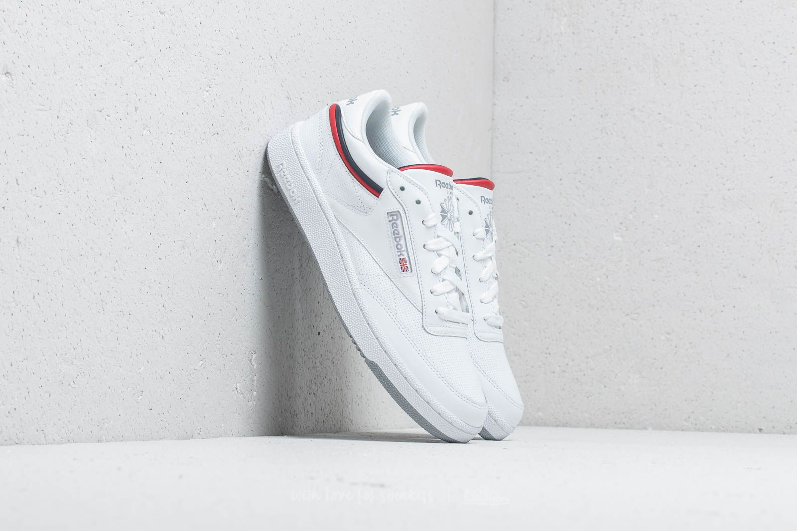 ff4cb88c5d9 Reebok Club C 85 MU White  Navy  Red  Shadow at a great price