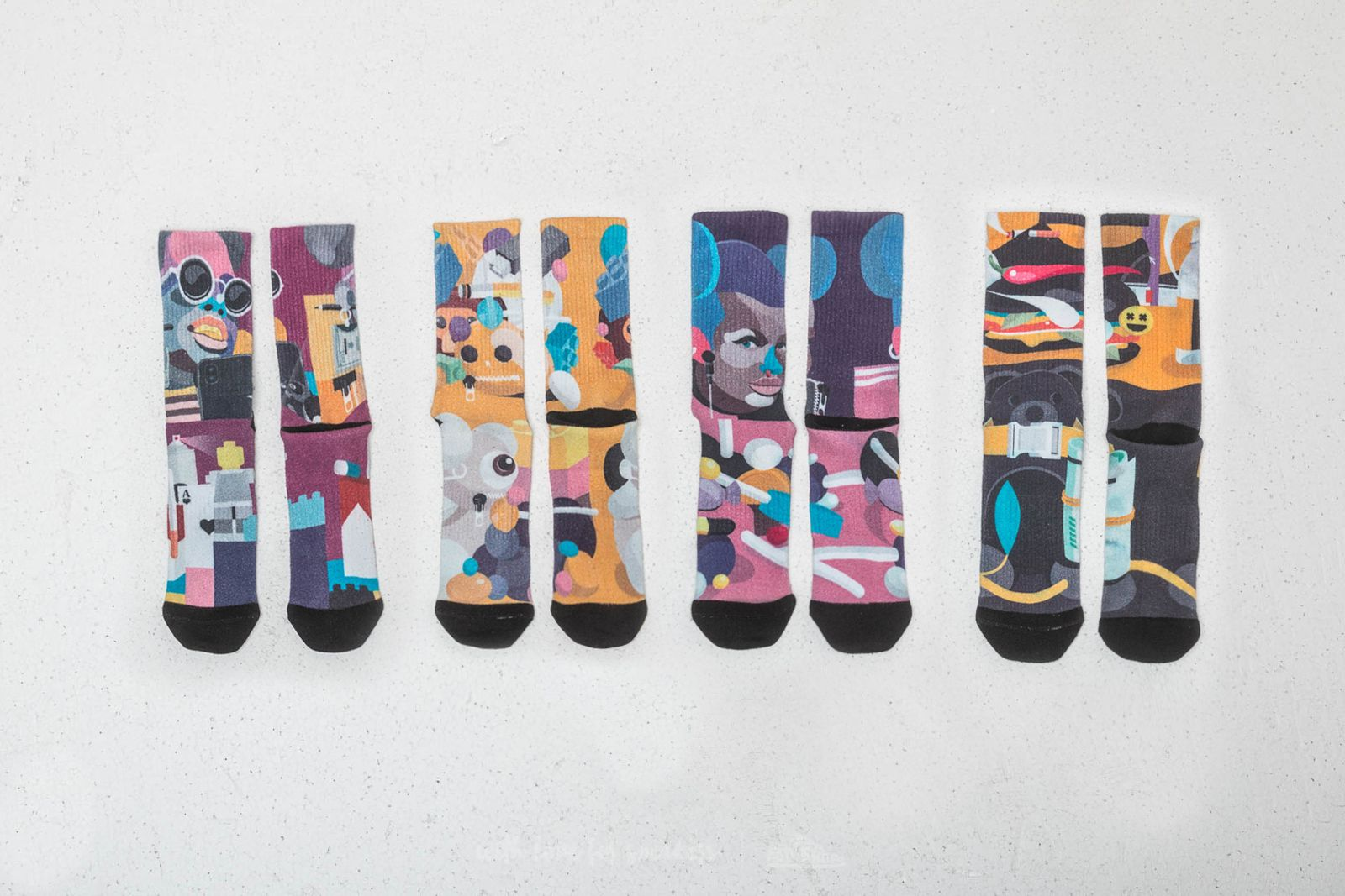 Moon Socks x Marek Mraz Pack Socks za skvělou cenu 849 Kč koupíte na Footshop.cz