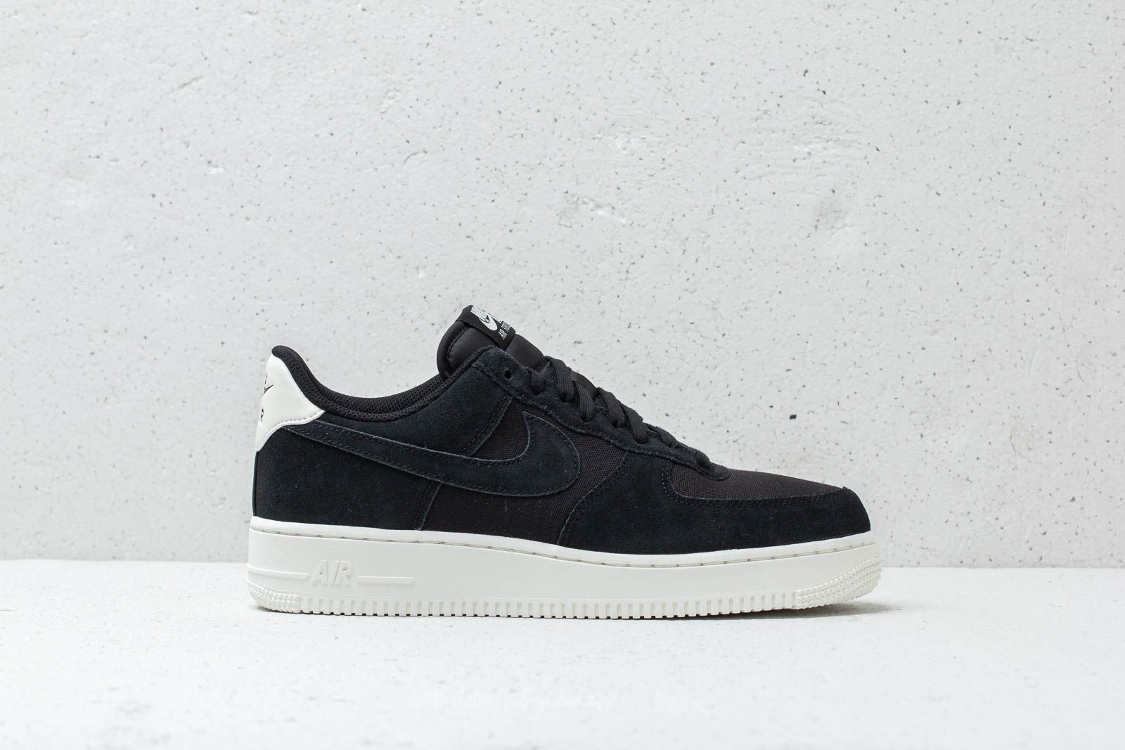 on sale dd1da cd116 Nike Air Force 1 `07 Suede Black  Black-Sail at a great price