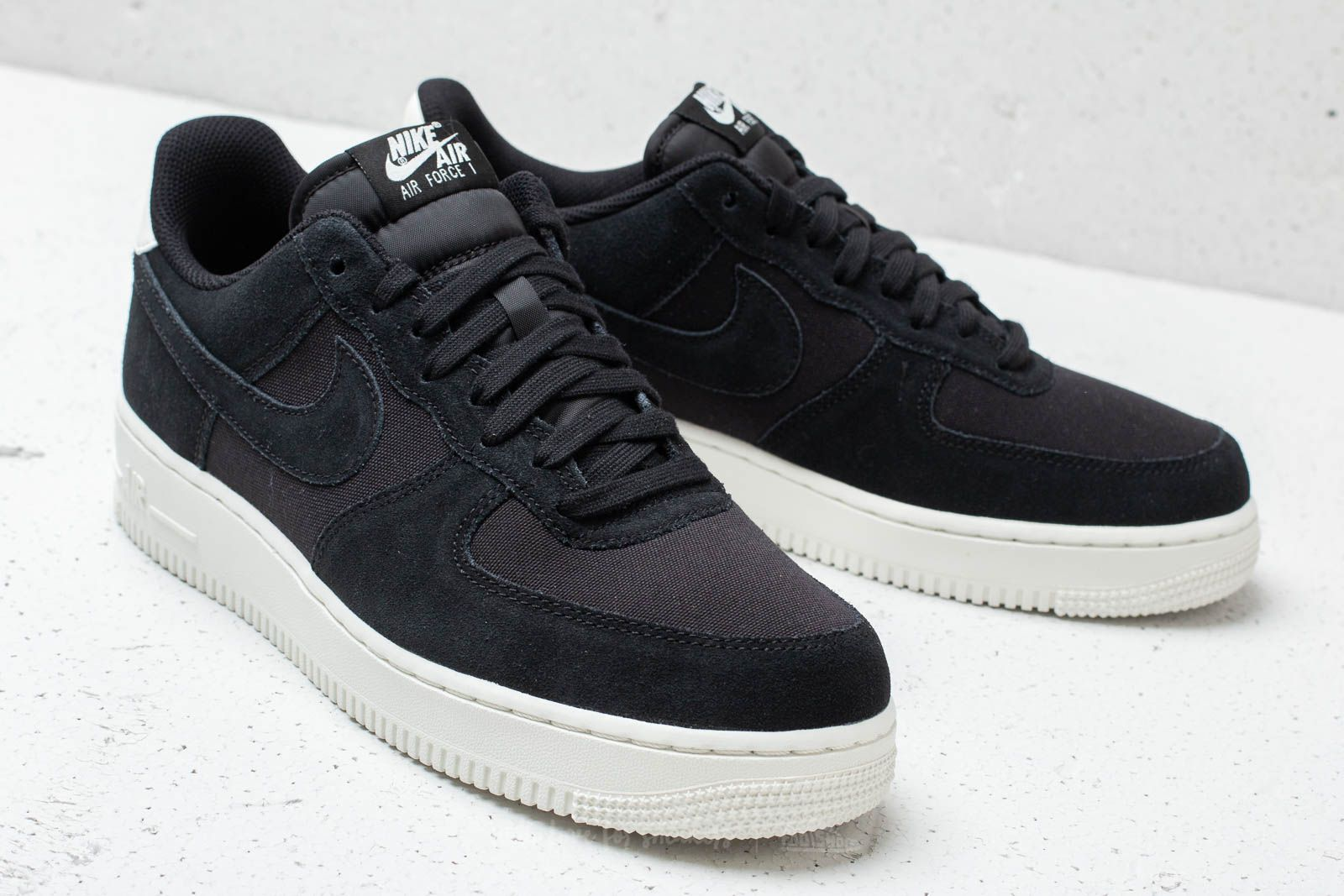 on sale 698c2 6095b Nike Air Force 1 `07 Suede Black  Black-Sail at a great price
