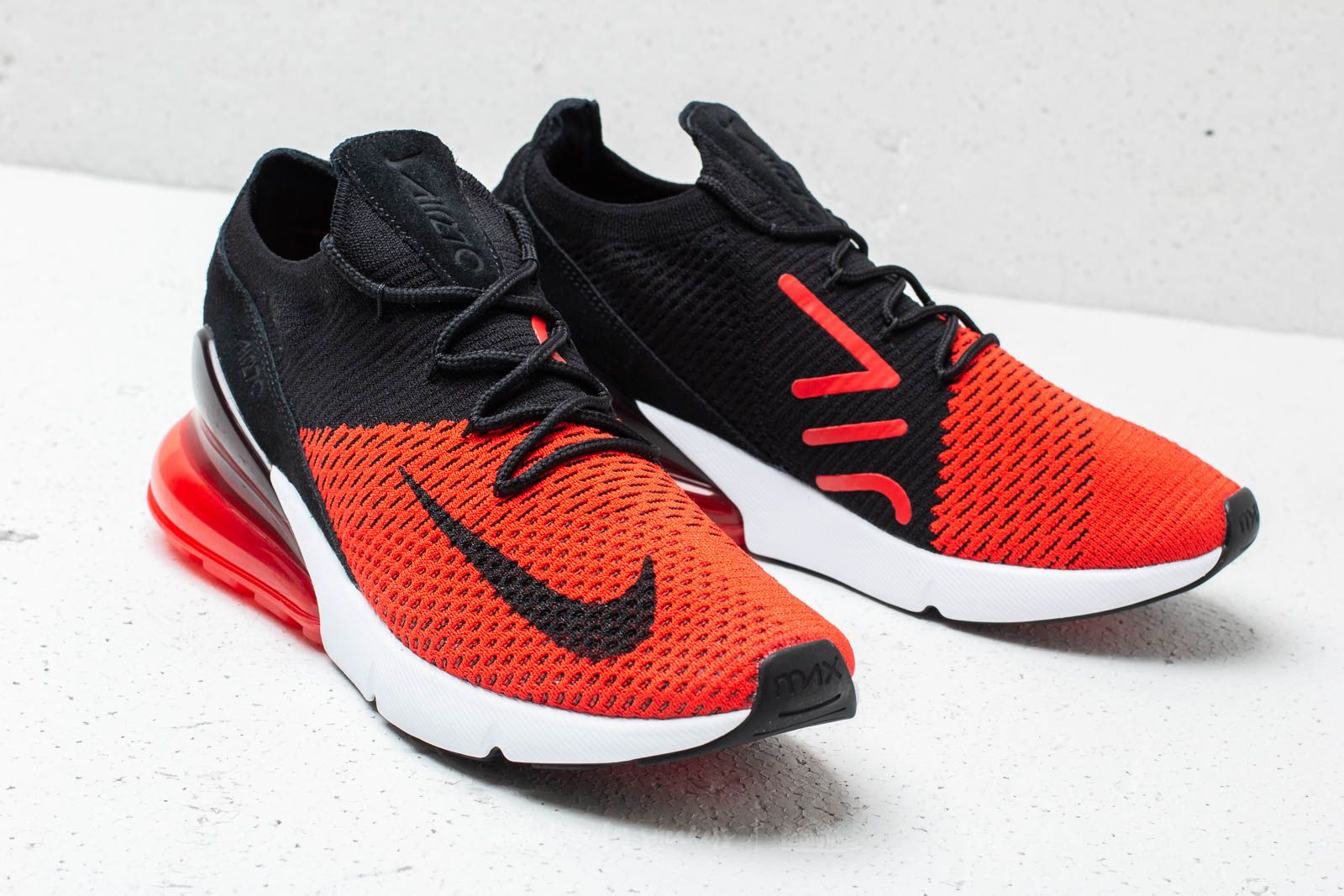 half off dc529 360a3 Nike Air Max 270 Flyknit Chile Red/ Black-Challenge Red ...