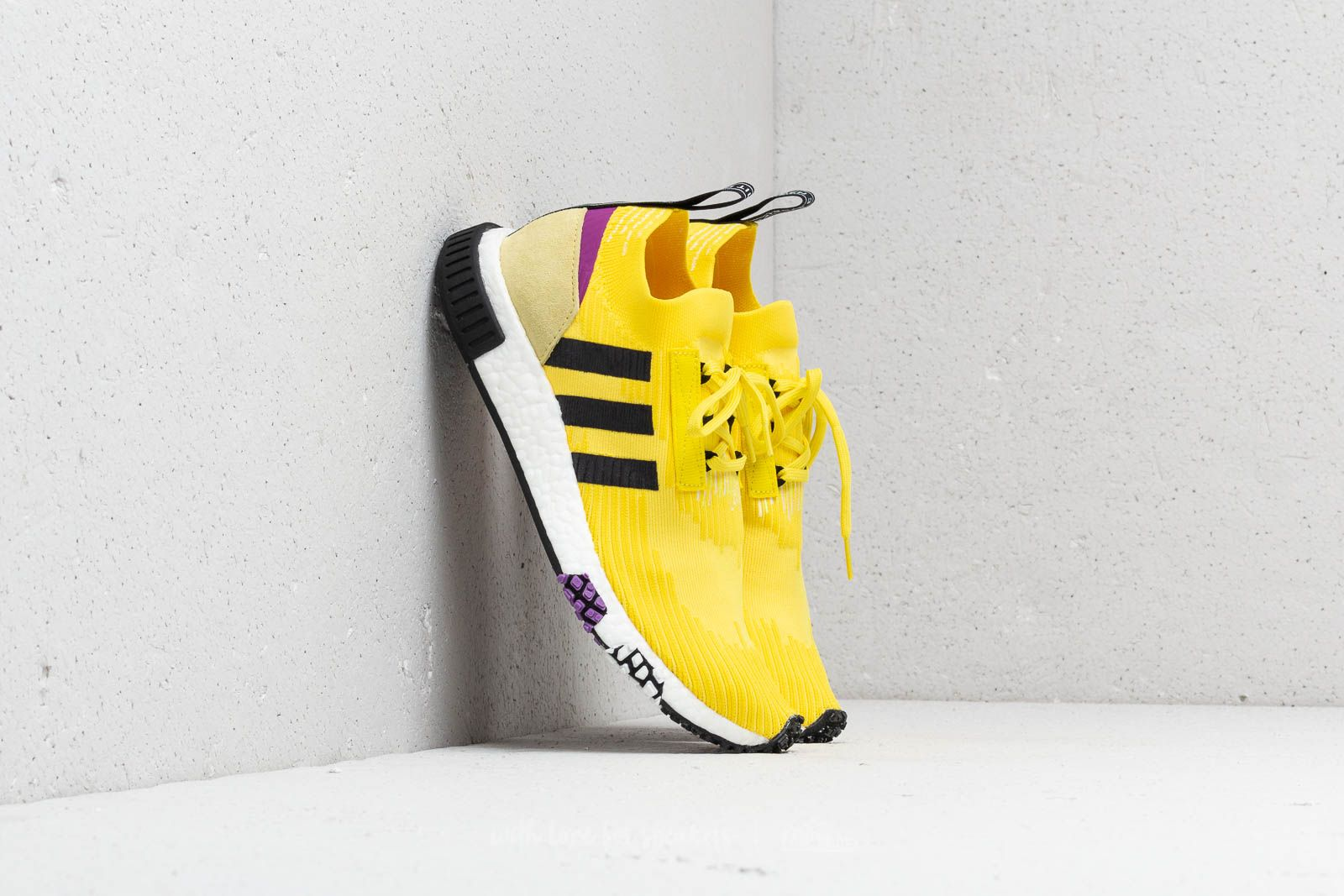 624b0735c7a8 adidas NMD Racer Primeknit Solar Yellow  Core Black  Shock Purple at a great  price