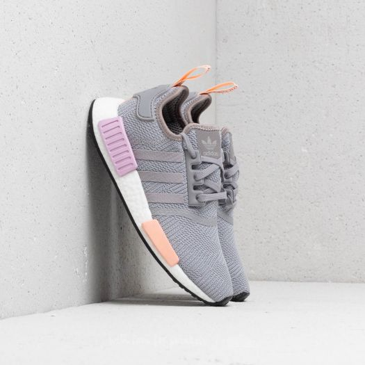 Wmns Adidas NMD_R1 Light Granite Clear Orange
