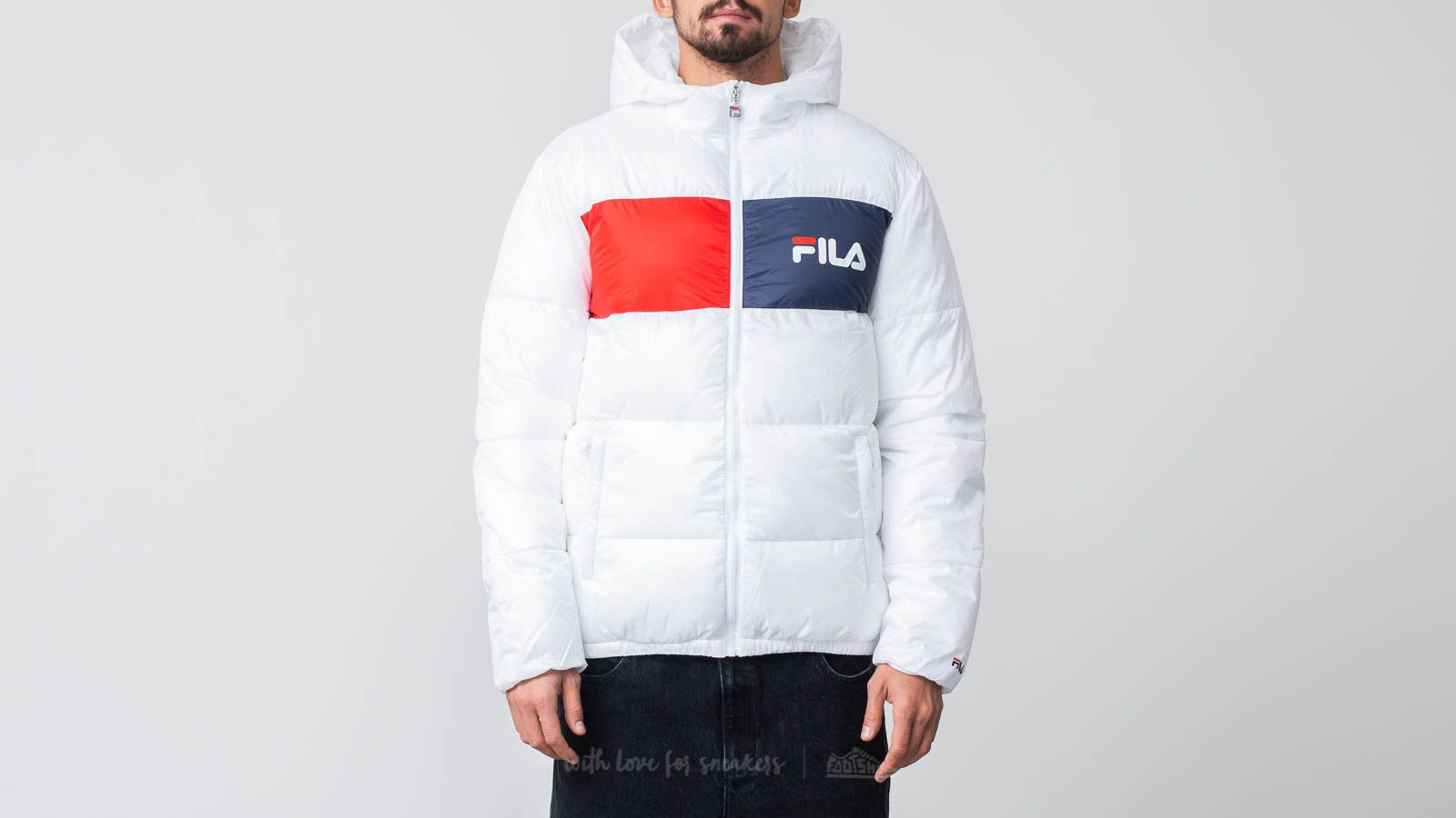 Fila Floyd Puff hood Jacket Bright White | Footshop