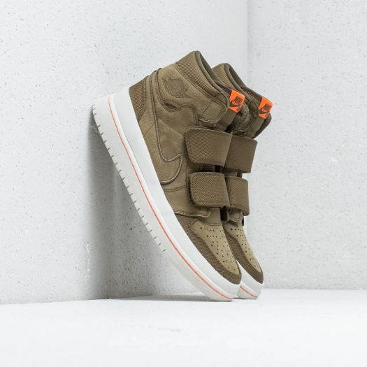 another chance new styles good service Air Jordan 1 RE Hi Double Strap Olive Canvas/ Cone-Light ...