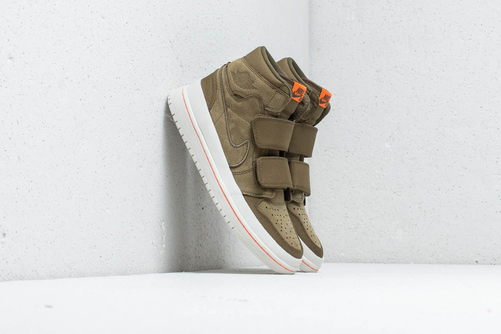 98d605be5dac Air Jordan 1 RE Hi Double Strap Olive Canvas  Cone-Light Bone at a