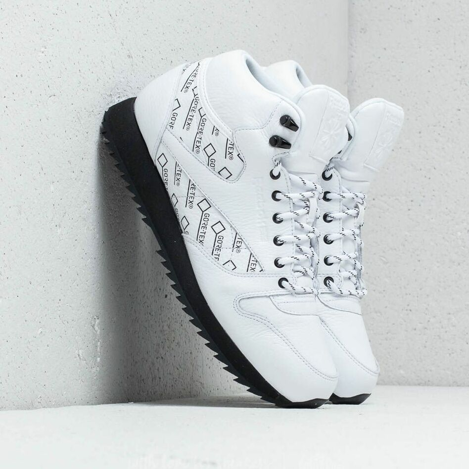Reebok CL Leather Mid Ripple Gore-Tex White/ Black EUR 44