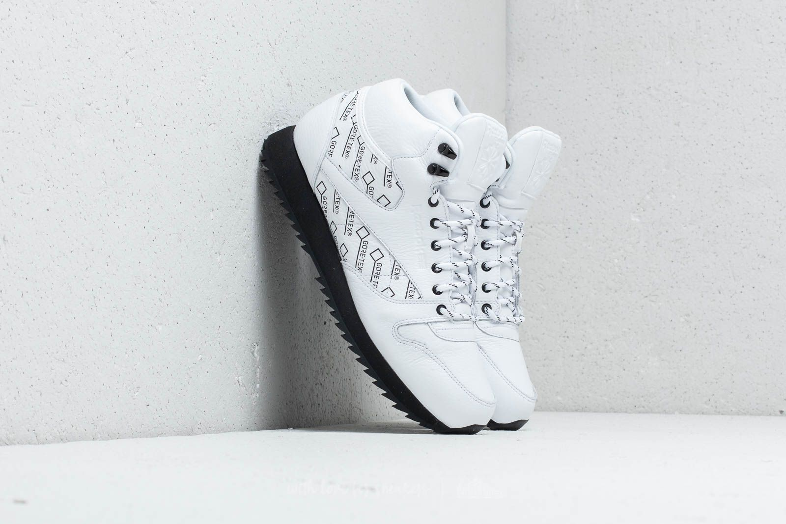 Reebok CL Leather Mid Ripple Gore-Tex White  Black at a great price 72 9b1f1dd87