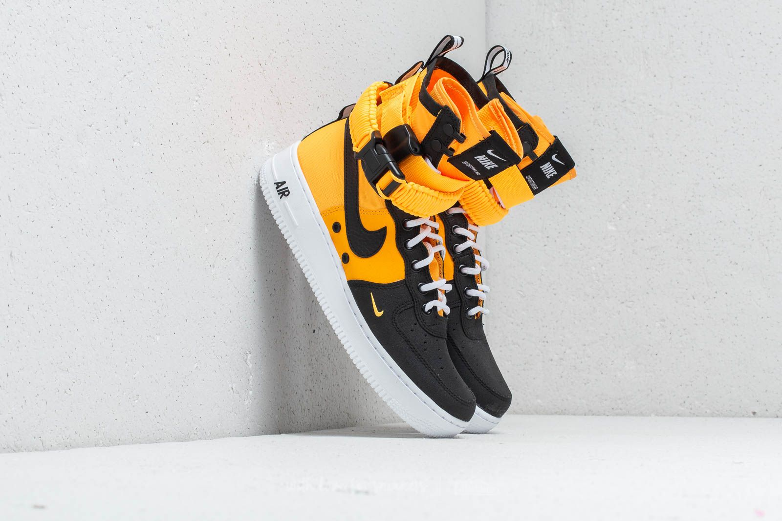 half off 18d23 f4dc5 Nike SF Air Force 1. Laser Orange  Black-White