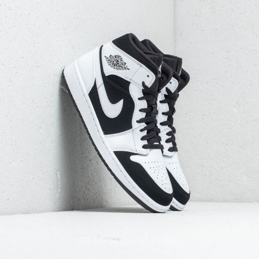 newest f800d 51d5c Air Jordan 1 Mid White/ Black-White | Footshop