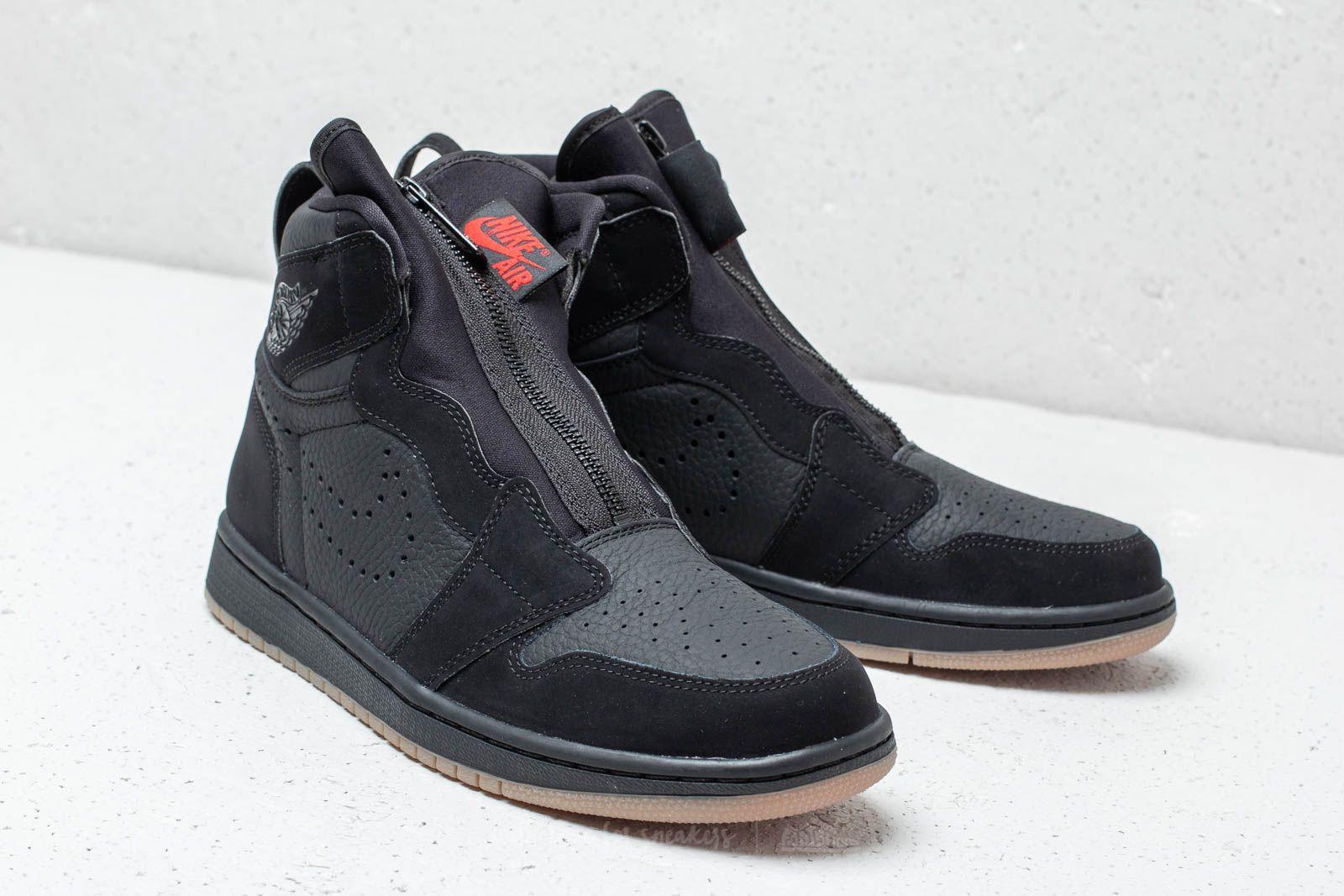 Air Jordan 1 High Zip Black University Red Black | Footshop