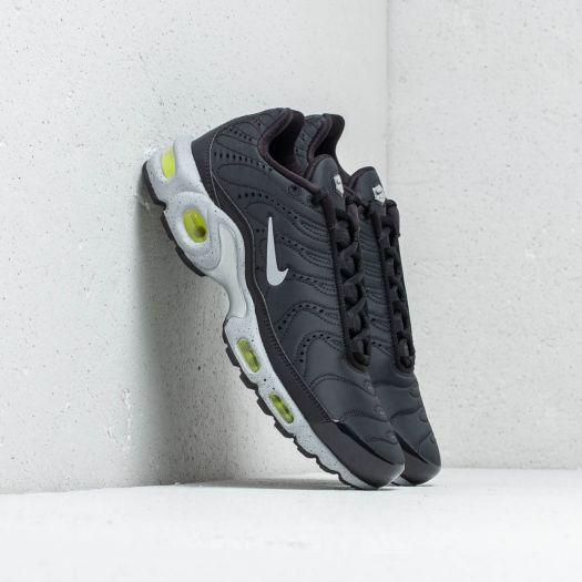 Nike Air Max Plus Premium Black Matte Silver Volt | Footshop