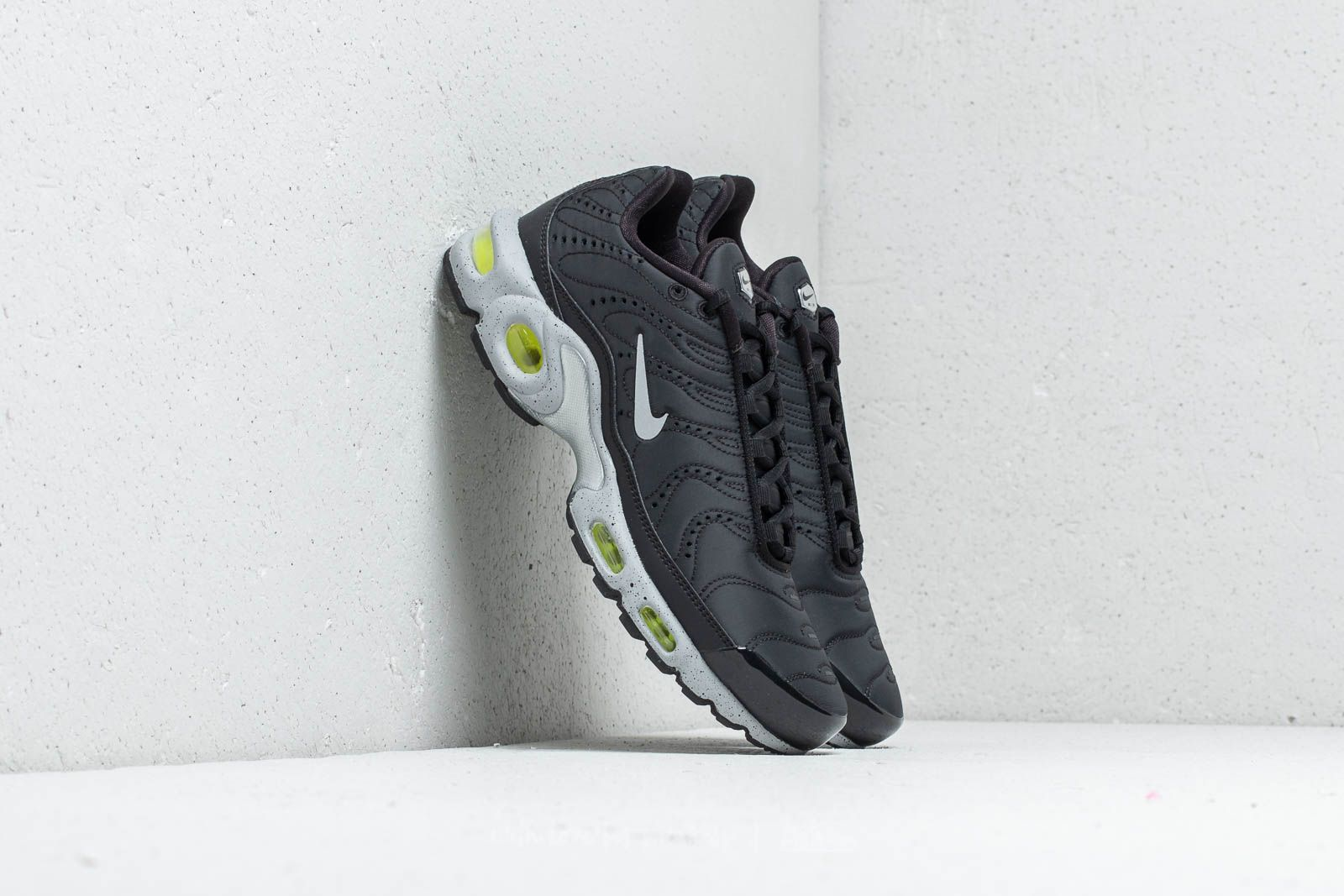 best loved ba881 70312 Nike Air Max Plus Premium Black  Matte Silver-Volt at a great price 169