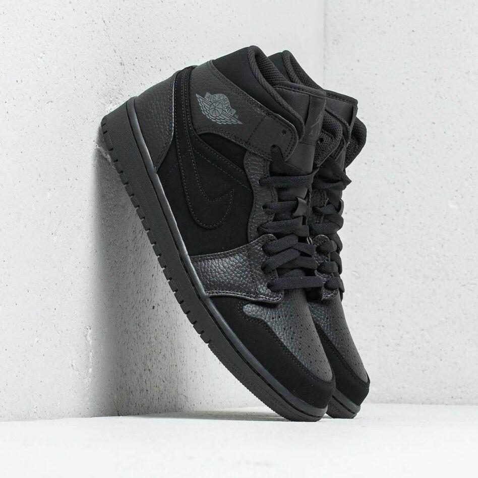 Air Jordan 1 Mid Black/ Dark Smoke Grey-Black EUR 44