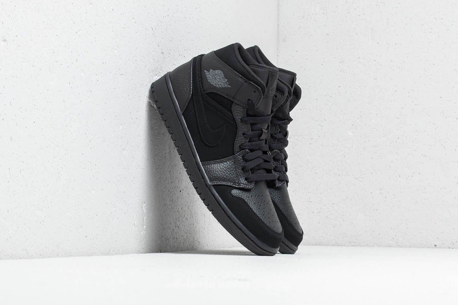 Pánské kotníkové boty Air Jordan 1 Mid Black/ Dark Smoke Grey-Black