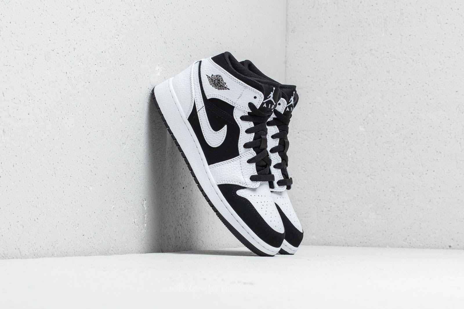 f83f371d2608 Air Jordan 1 Mid (GS) White  Black-White