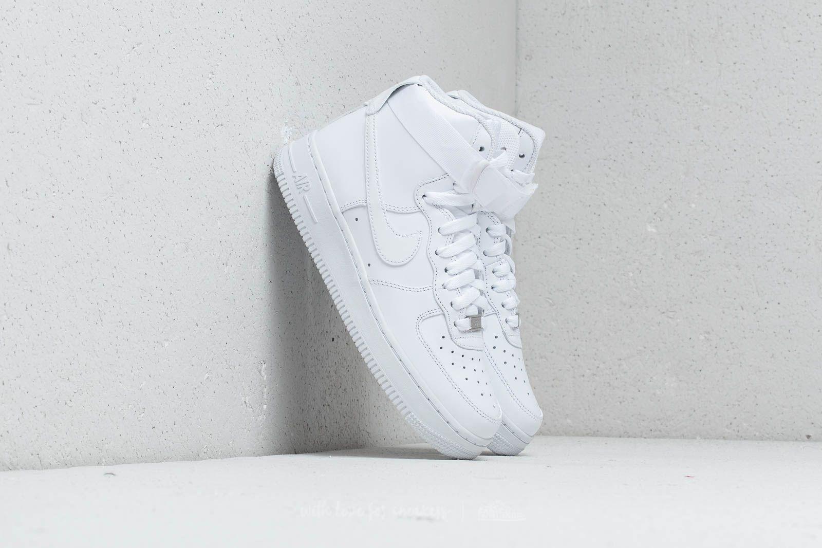 Nike Wmns Air Force 1 High White/ White-White za skvelú cenu 117 € kúpite na Footshop.sk