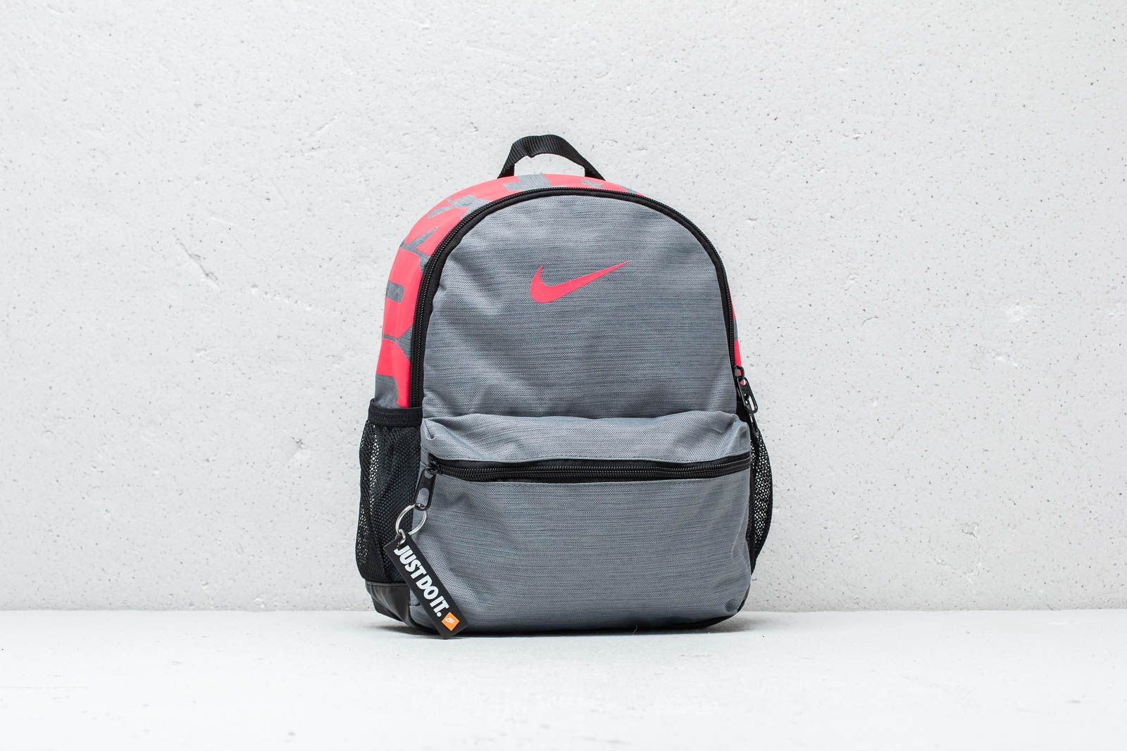 bd0830b030 Nike Just Do It Brasilia Mini Backpack Grey  Pink