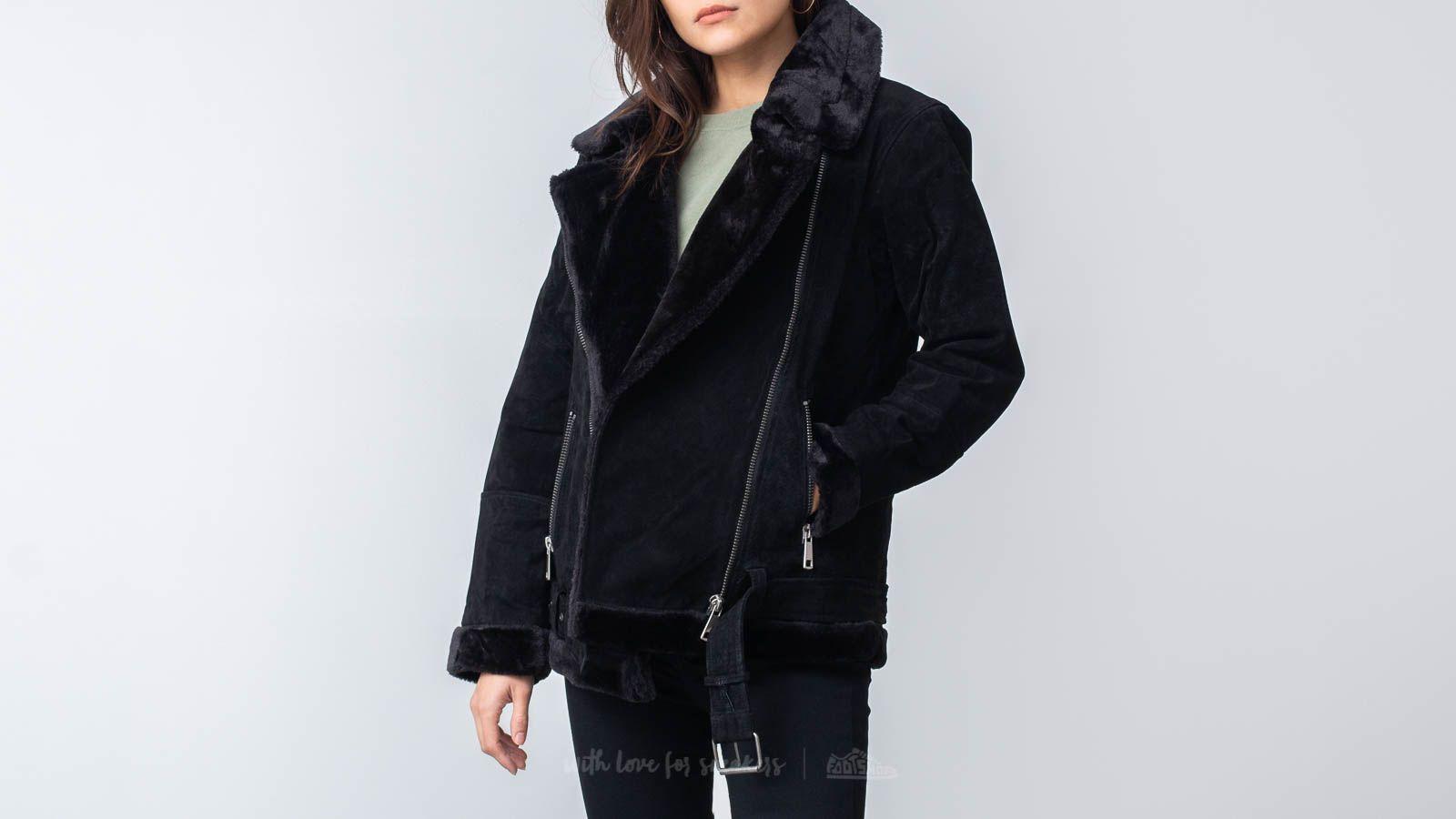 SELECTED Victoria Spilt Leather Jacket Black za skvělou cenu 3 290 Kč koupíte na Footshop.cz