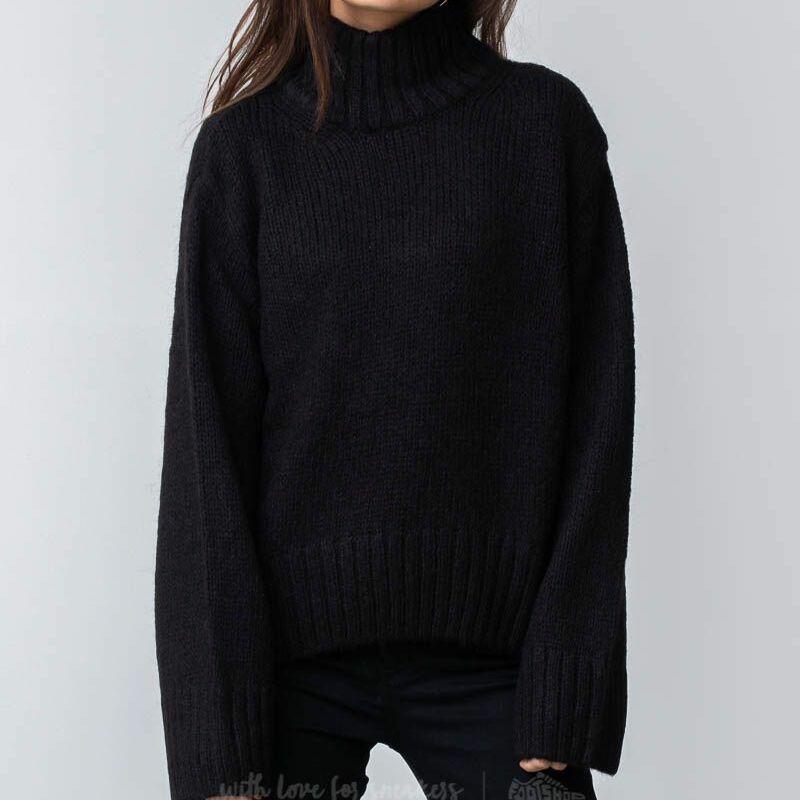 SELECTED Holly Longsleeve Knit Highneck Pullover Black