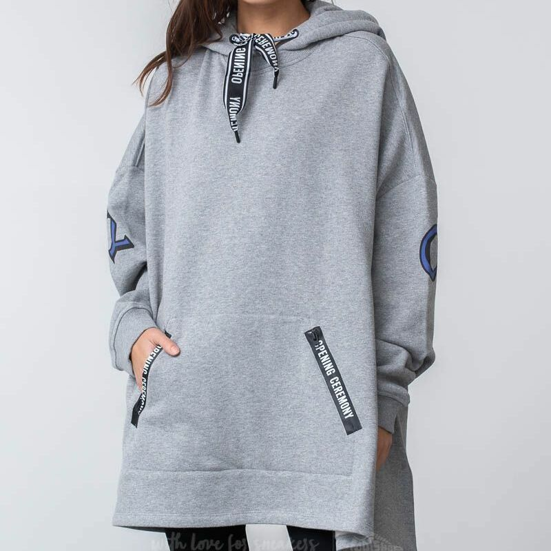 Opening Ceremony Poncho Hoodie Grey Heather