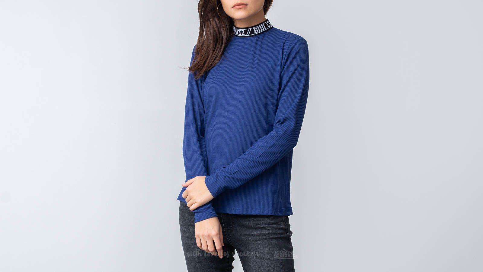 Тениски Bibi Chemnitz Rib Turtleneck Blue