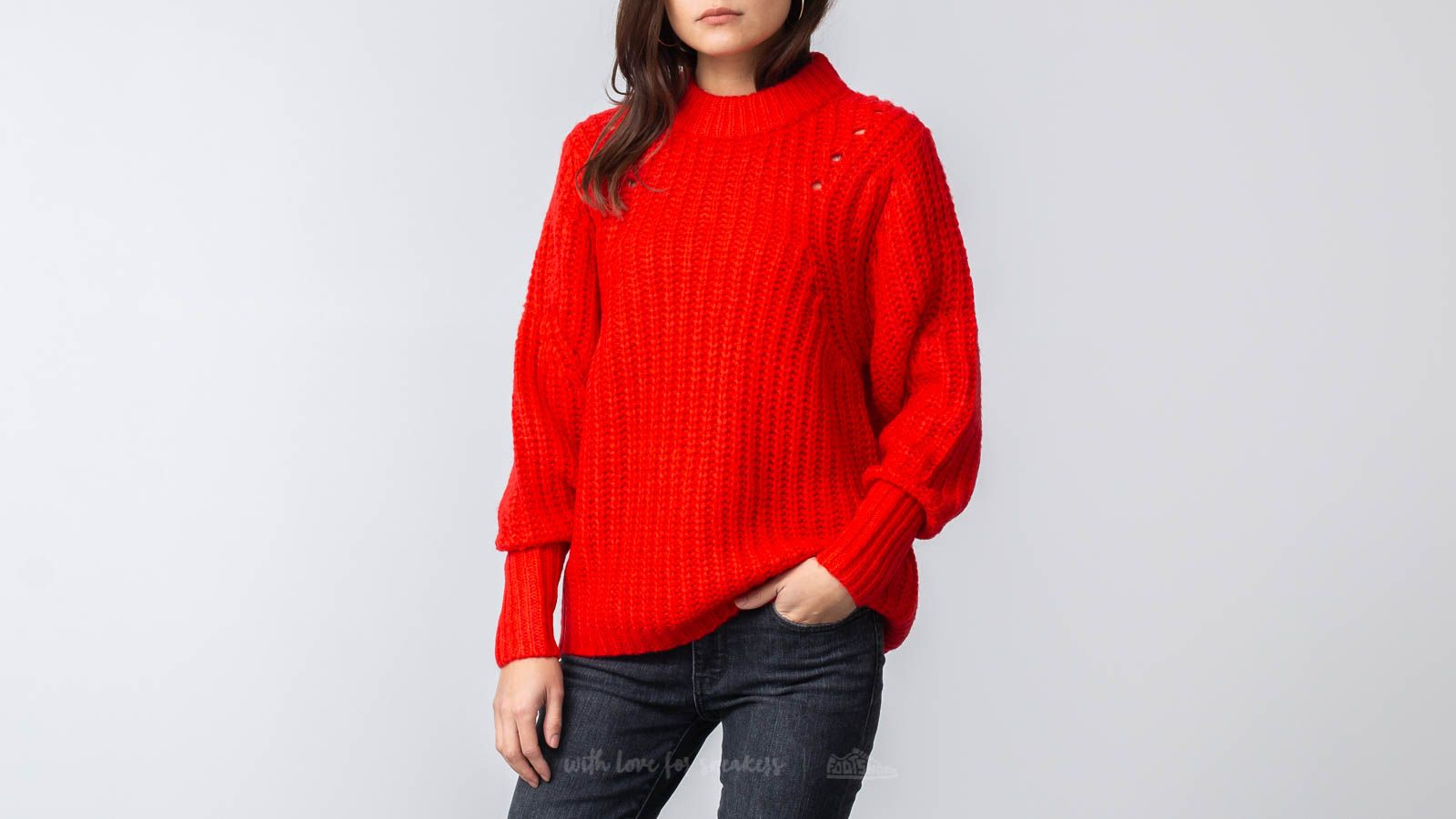 SELECTED Ginna Longsleeve Knit O-Neck Pullover True Red za skvelú cenu 51 € kúpite na Footshop.sk